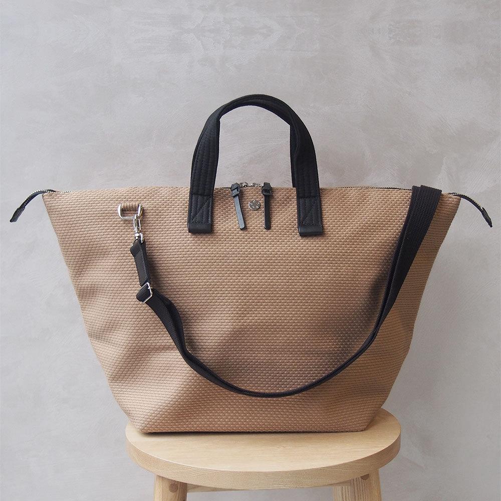 CaBas N°32-Bowler bag medium + Shoulder strap Brown/Black
