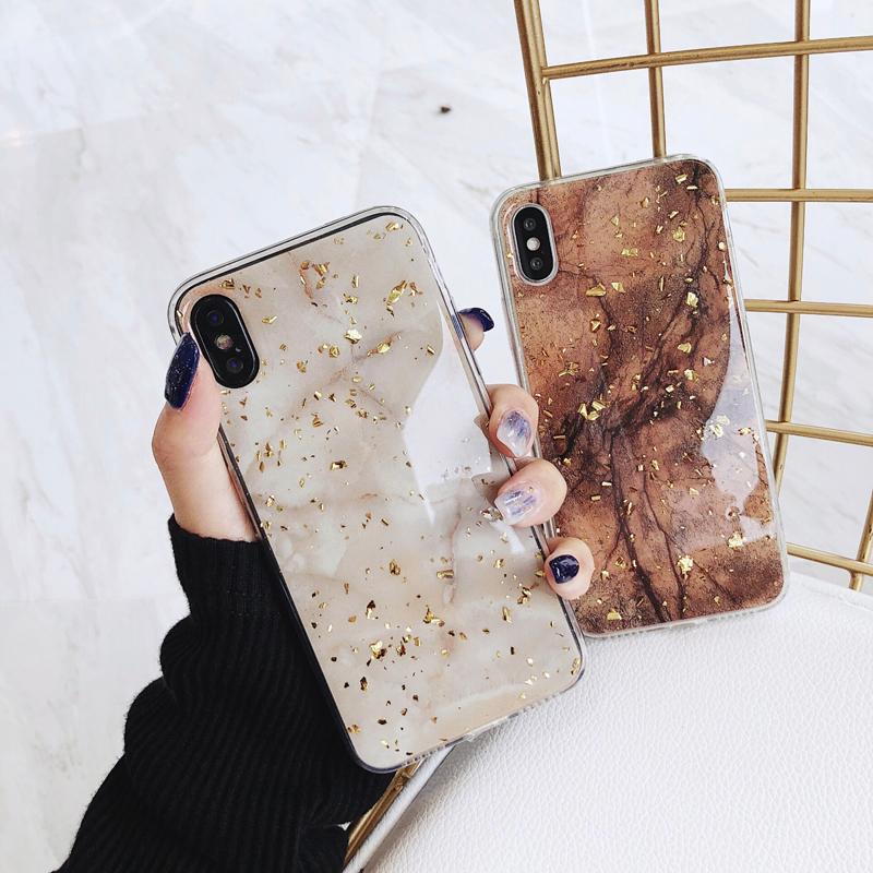大理石 金箔 iPhone case