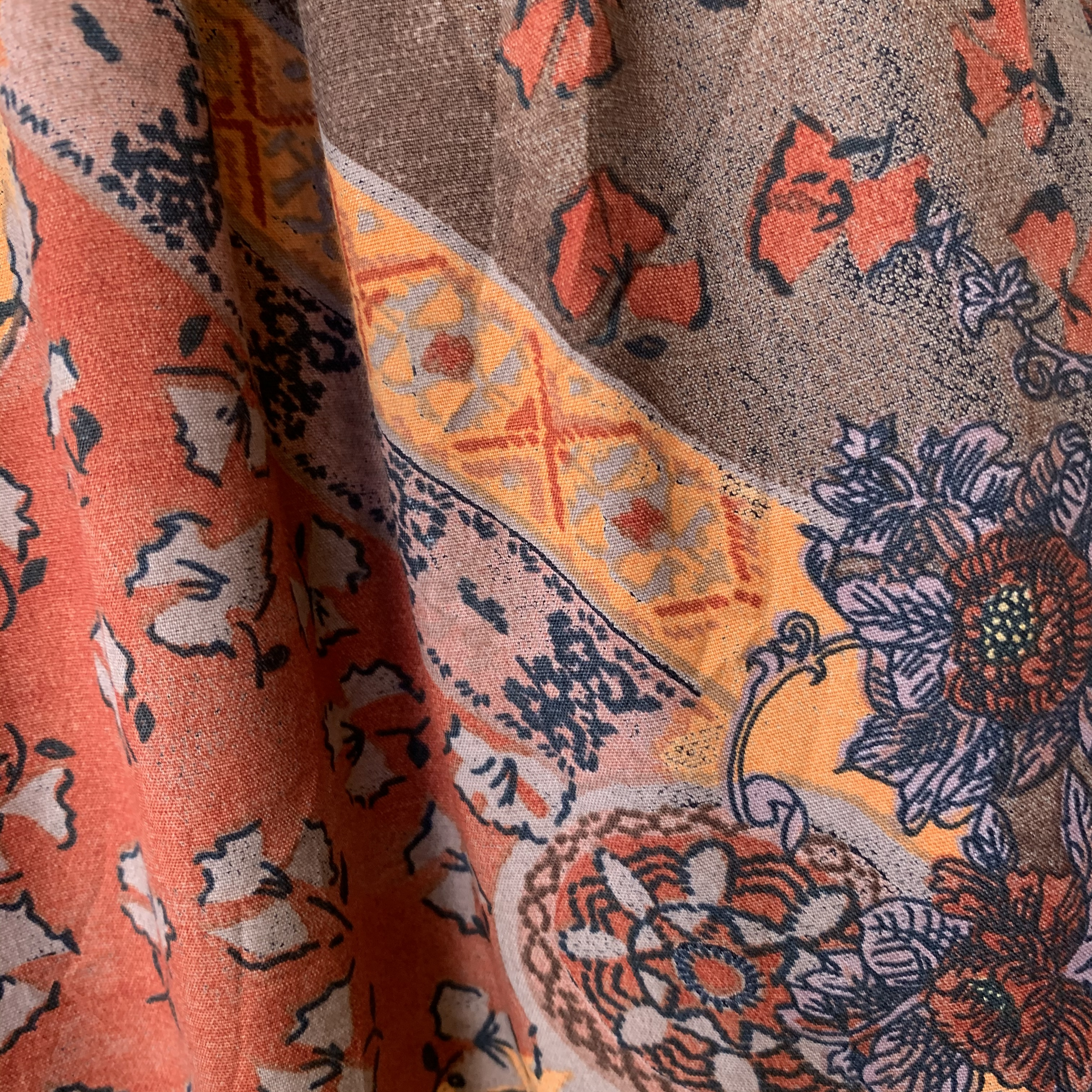 vintage USA rayon skirt