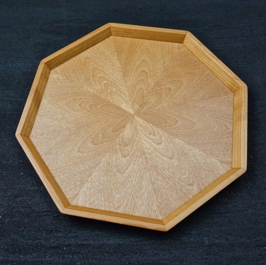 カバ桜 八角形のトレー 0116