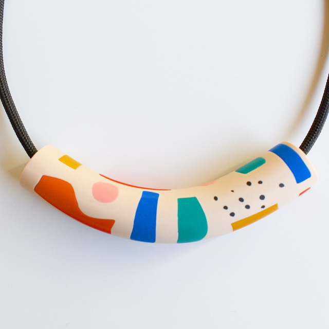"""Studio Emma Odenkirchen """"COCO COLLAGE BEIGE TUBE NECKLACE""""ネックレス"""