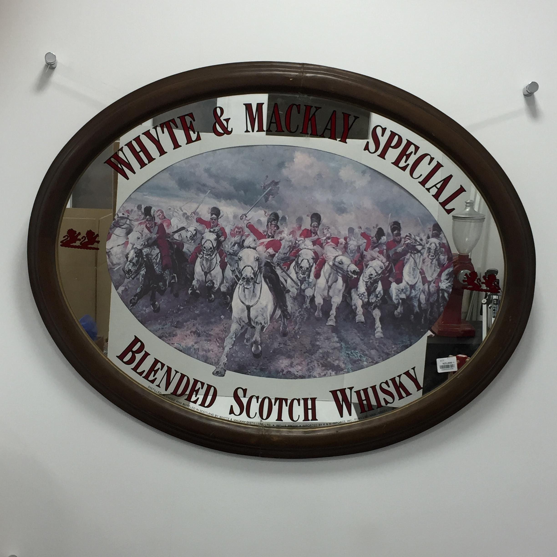 品番3456 パブミラー 『ホワイト マッカイ スペシャル ブレンデット・スコッチ・ウイスキー』 壁掛 ディスプレイ ヴィンテージ