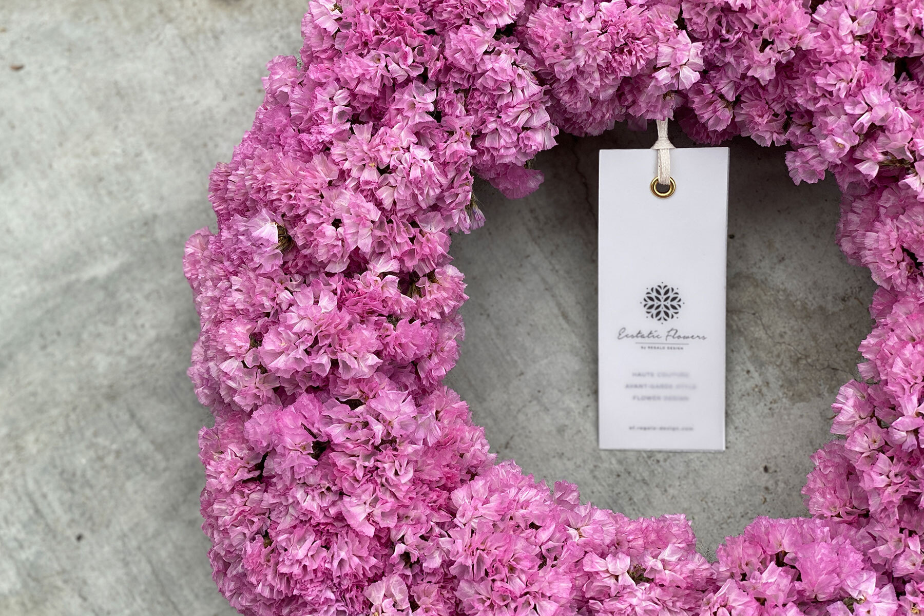 Statice Wreath Pink 02 | スターチスリース