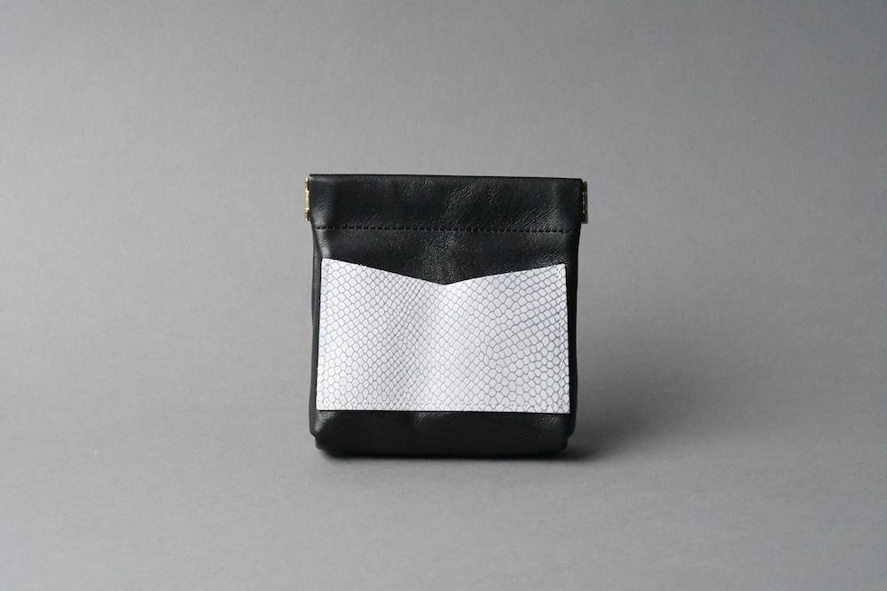 ワンタッチ・コインケース ■ブラック・リザードW■ - 画像1