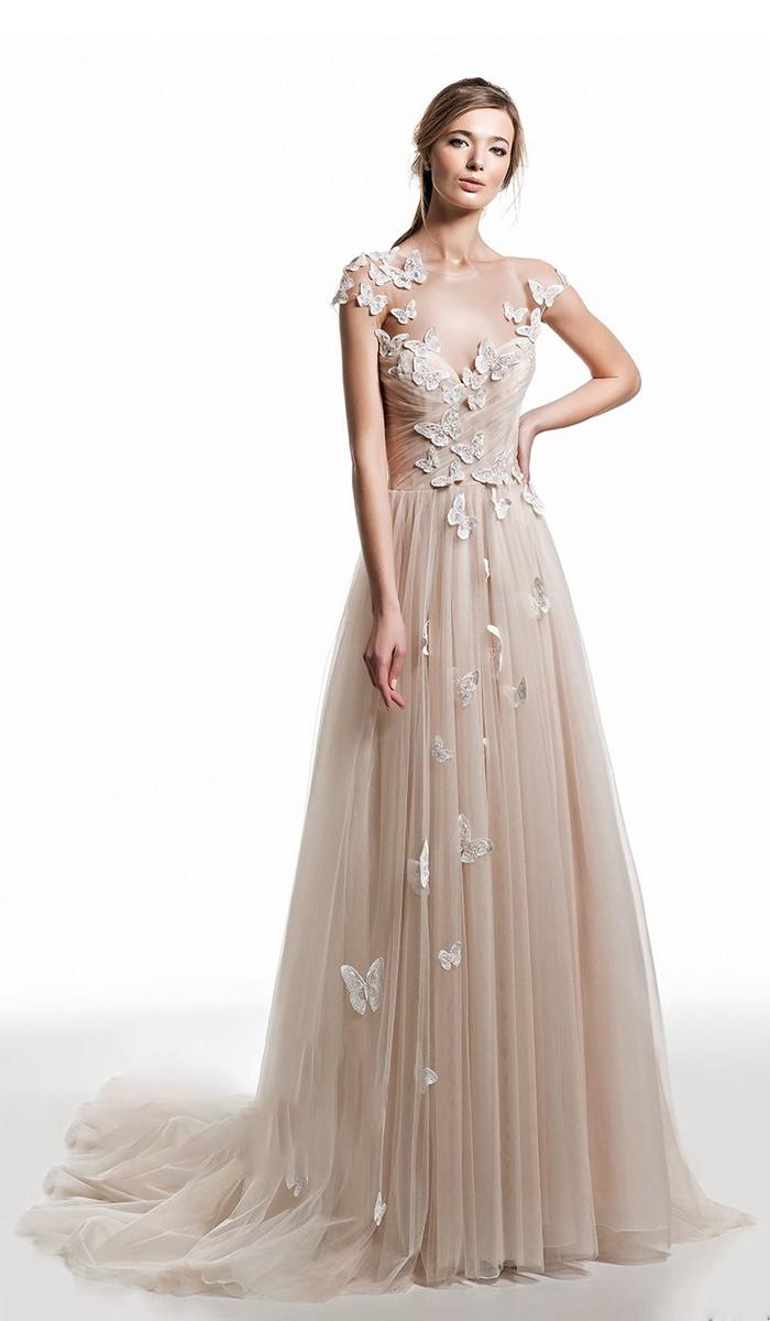 【DearWhite】ウェディングドレス Aライン プリンセス エンパイア デコルテ 結婚式 披露宴 二次会 パーティーウェディングドレス・カラードレス・サイズオーダー格安オーダーメイド DW00031