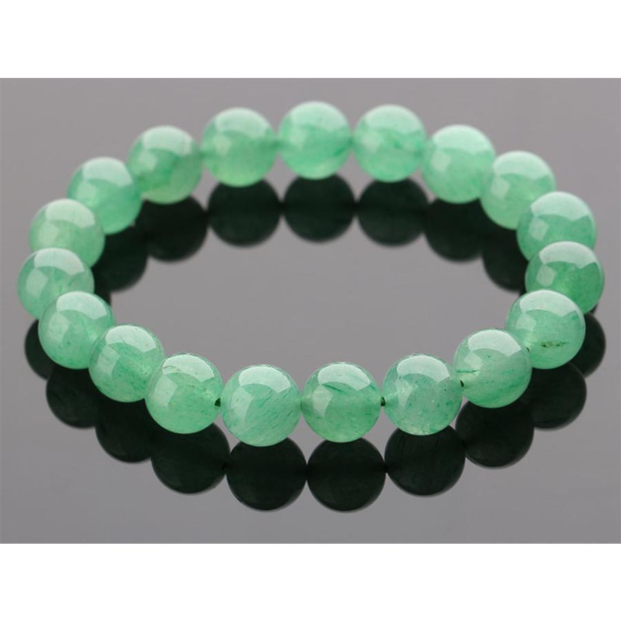 【精神・心身の安定】高品質 天然石アベンチュリン・ブレスレット(10mm)