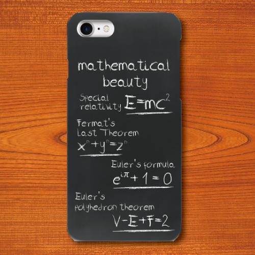 黒板文字/美しい数式/黒/ブラック/iPhoneスマホケース(ハードケース)