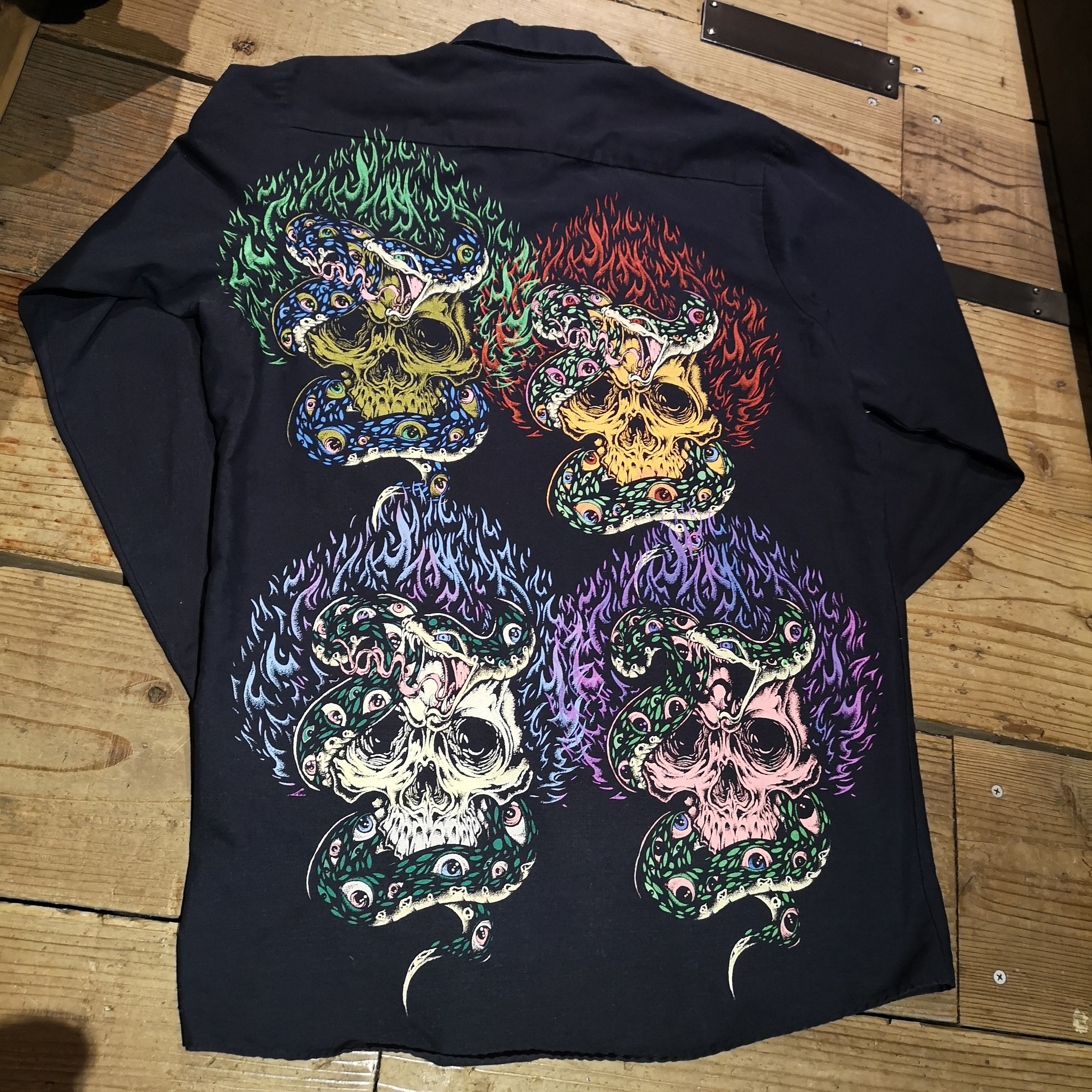 "THUNDER ""SKULL&SNAKE"" WORK SHIRT"