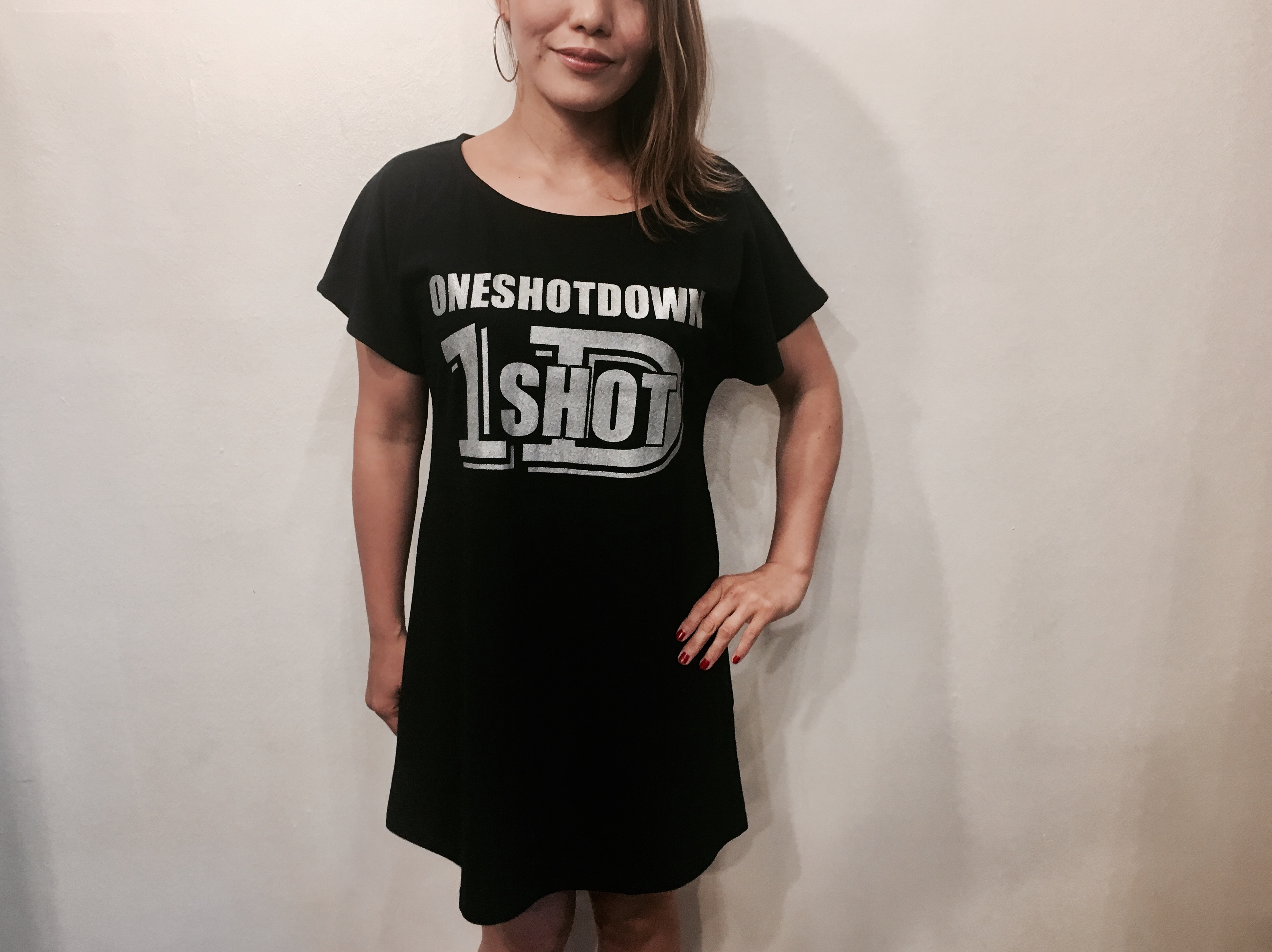 ONESHOTDOWN ガールズ ワンピースTシャツ - 画像2