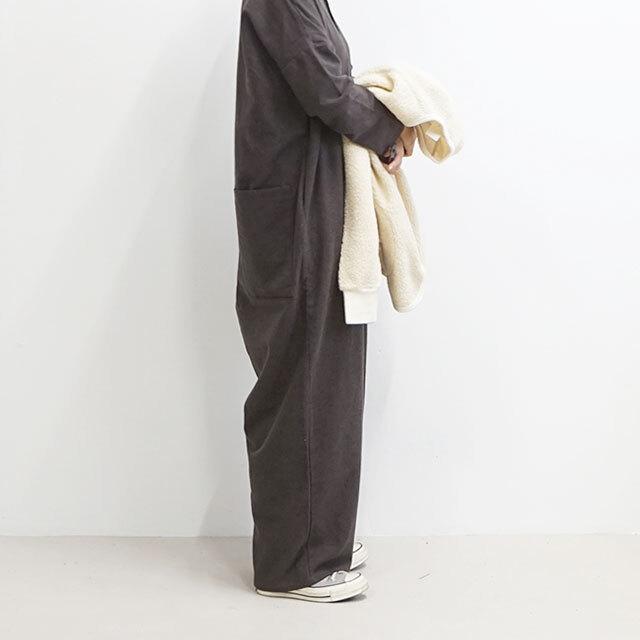 kiino. キイノ 平織シャンブレー起毛オールインワン 【返品交換不可】 (品番k-014)