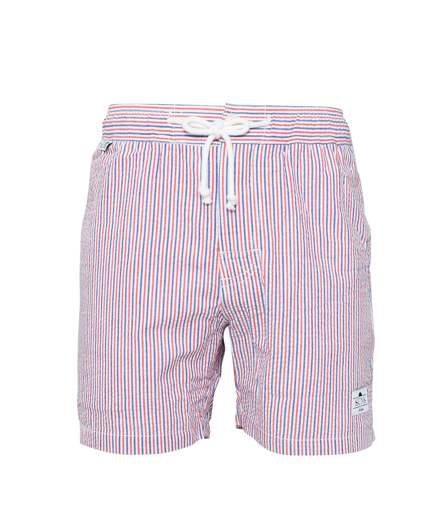 SUNS STRIPE COTTON SWIM SHORTS[RSW014]