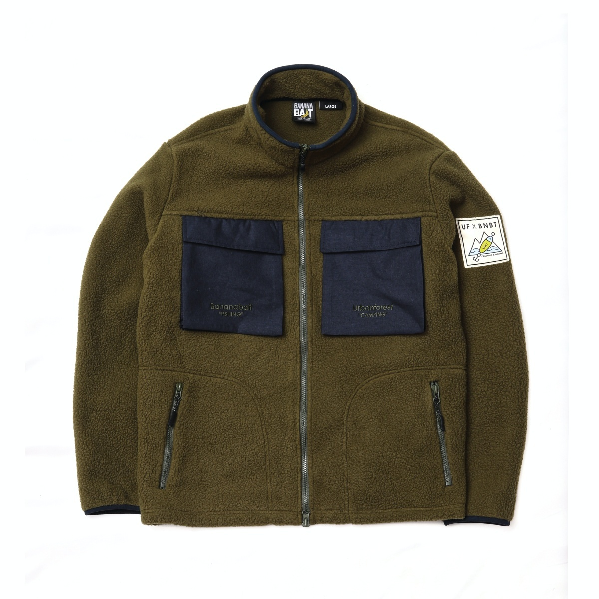 【Banana Bait】UF X BNBT Fleece JKT / Khaki