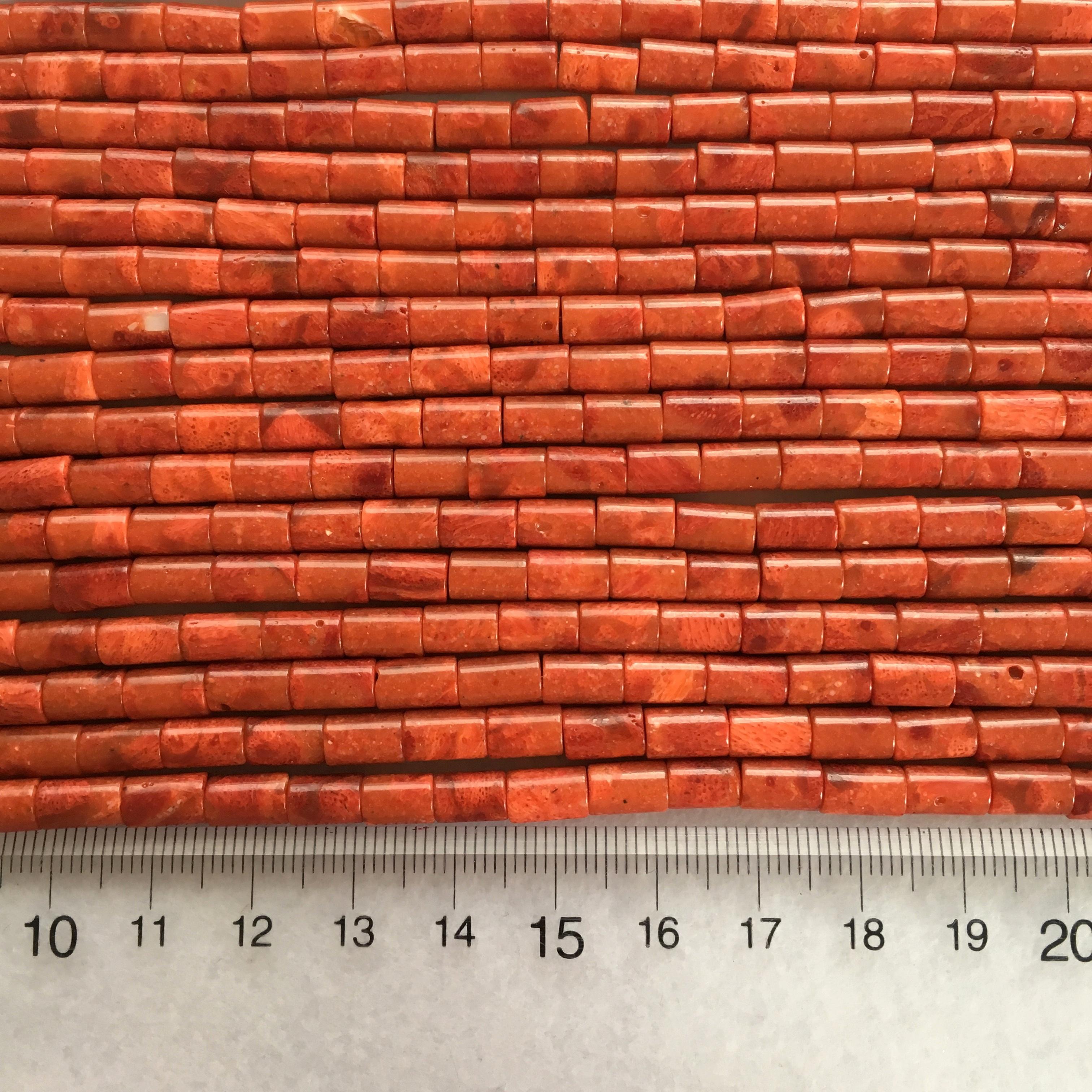 スポンジサンゴ チューブ型 約8x5mm 連材【190166】