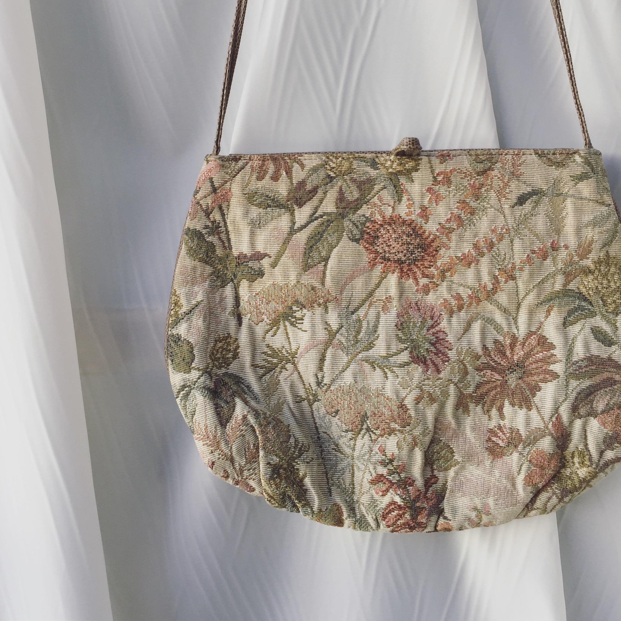 vintage flower bag