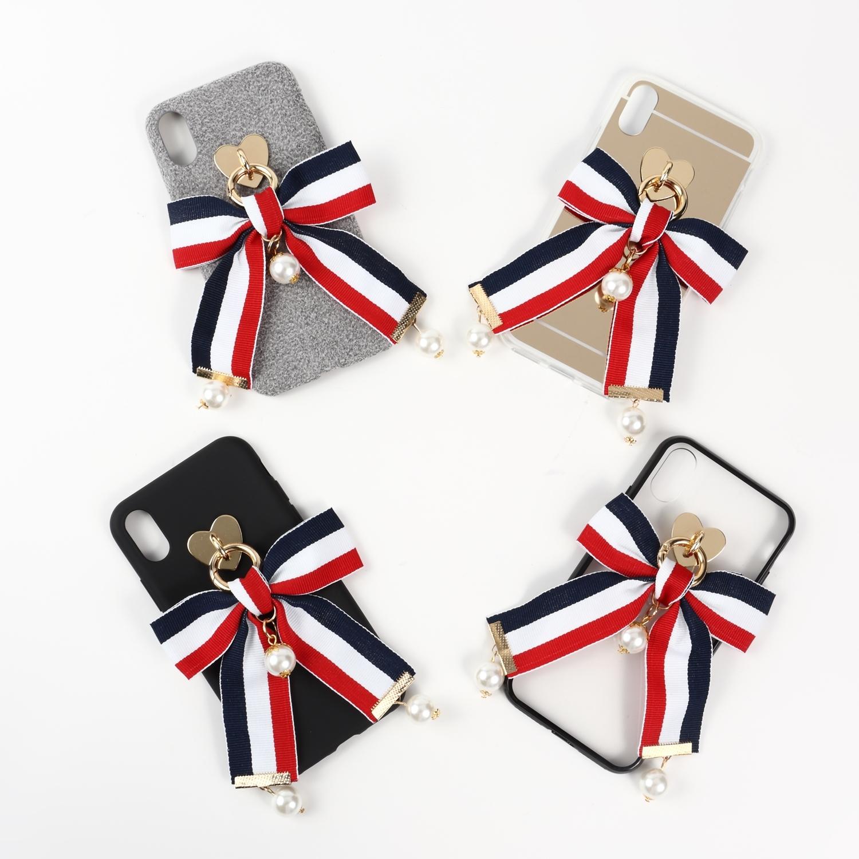 【即納★送料無料】選べる4カラー ショートリボン iPhoneケース