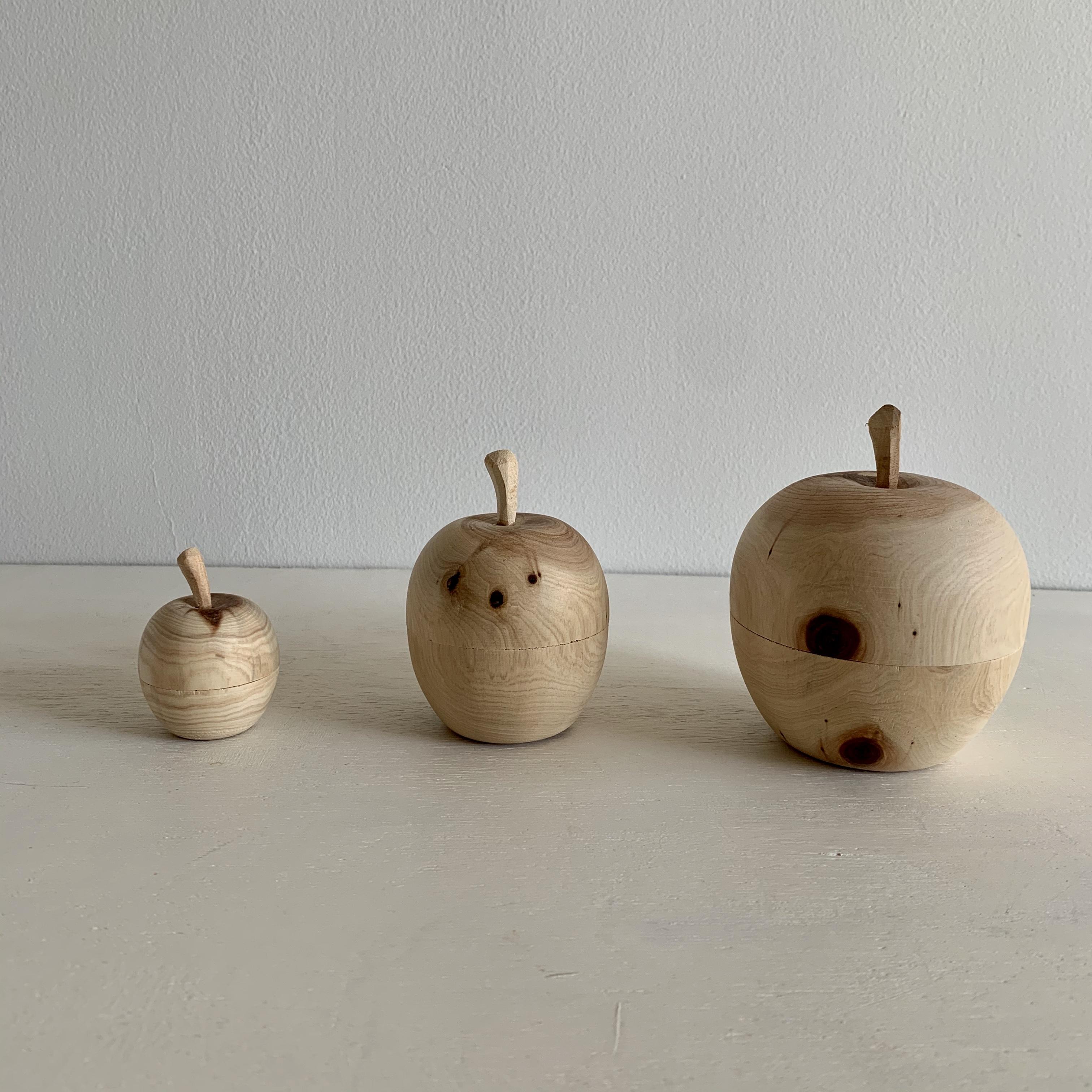 トゥイヤで作った木の林檎の小物入 M