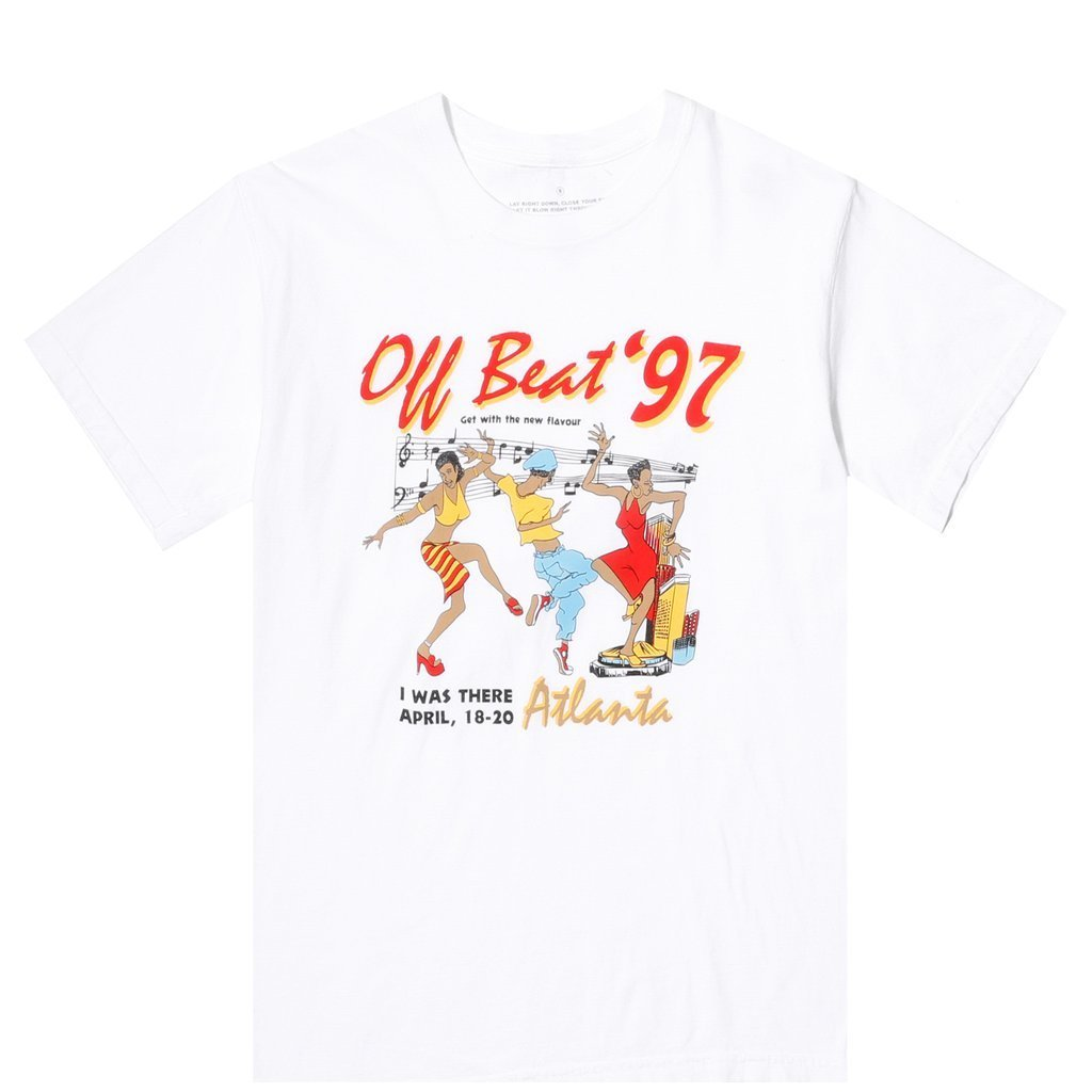 JUNGLES | OFF BEAT '97 SS TEE / WHITE