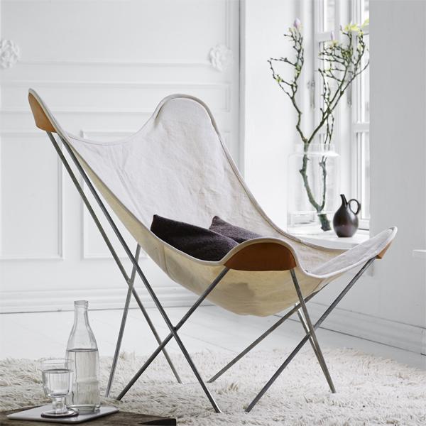 cuero BKF Chair バタフライチェア キャンバス ホワイト