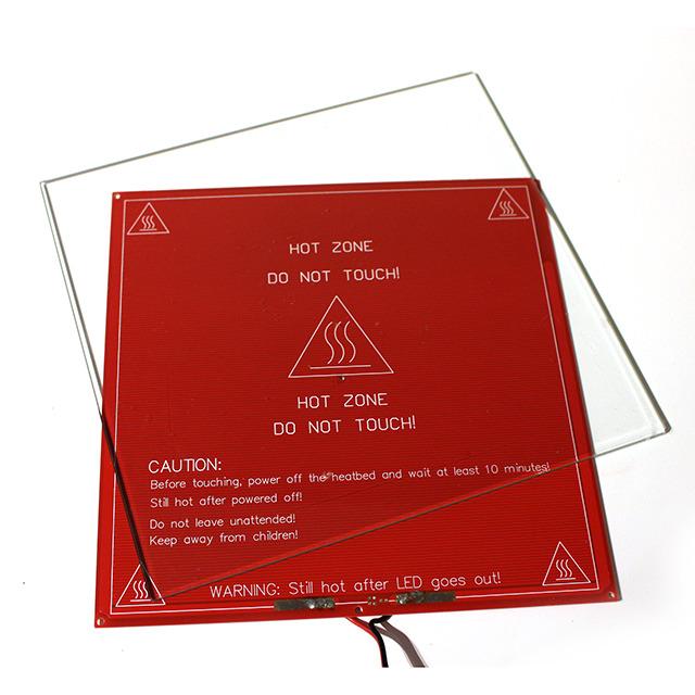 ヒーテッドベッド(HBP)+プリント用ガラス Lepton用 - 画像1
