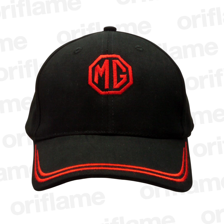 ベースボール キャップ・MG・ダブルストライプ・ブラック