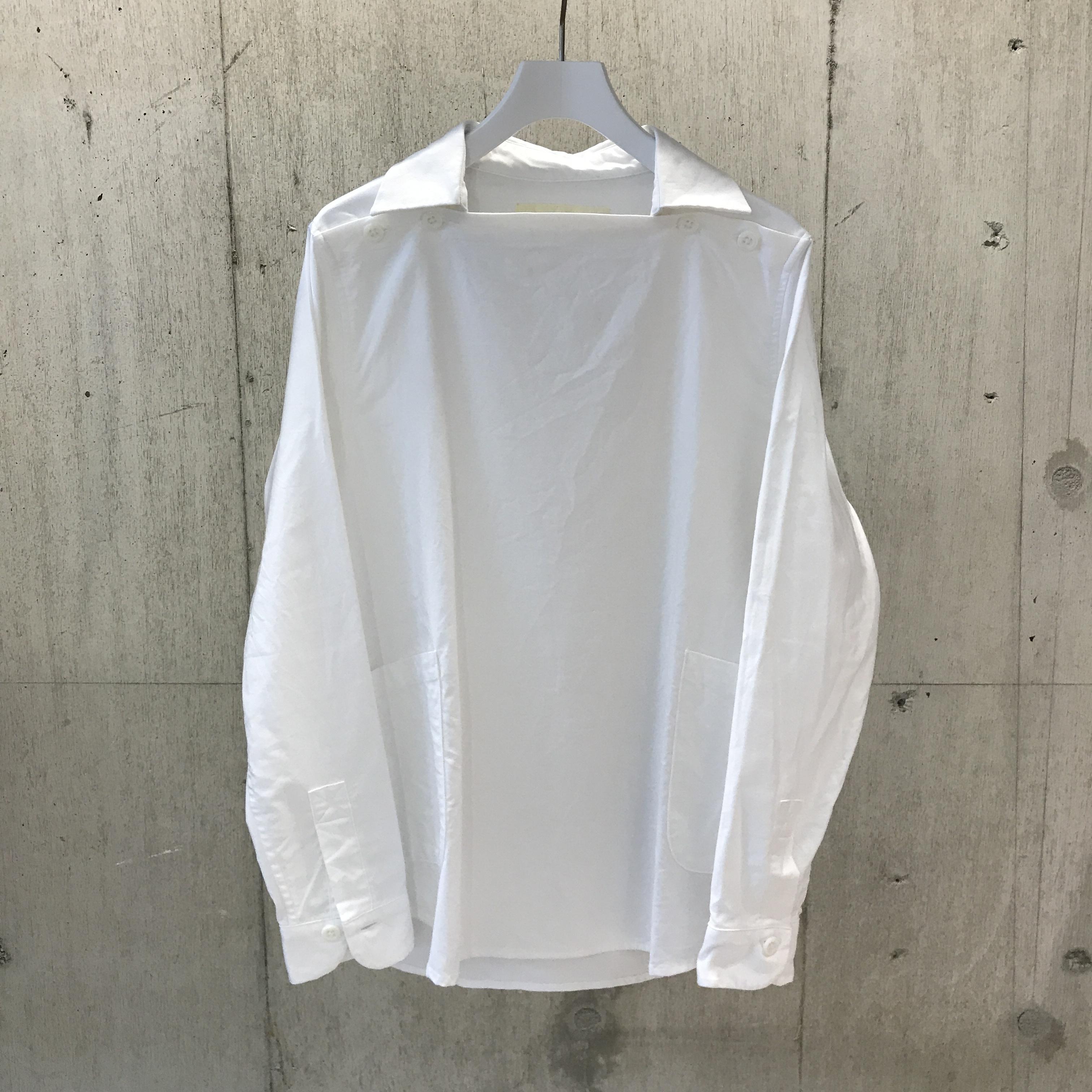 nisica デッキマンシャツ WHITE