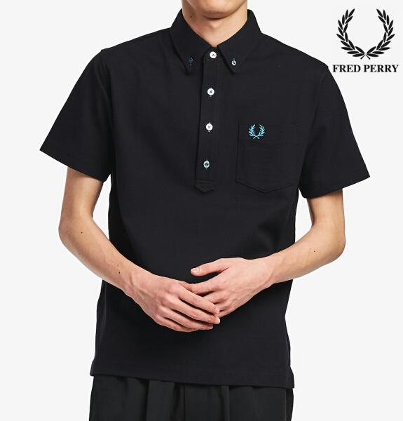 フレッドペリー ポロシャツ ボタンダウン メンズ Fred Perry B.D PIQUE SHIRT F1819 BLACK 正規販売店