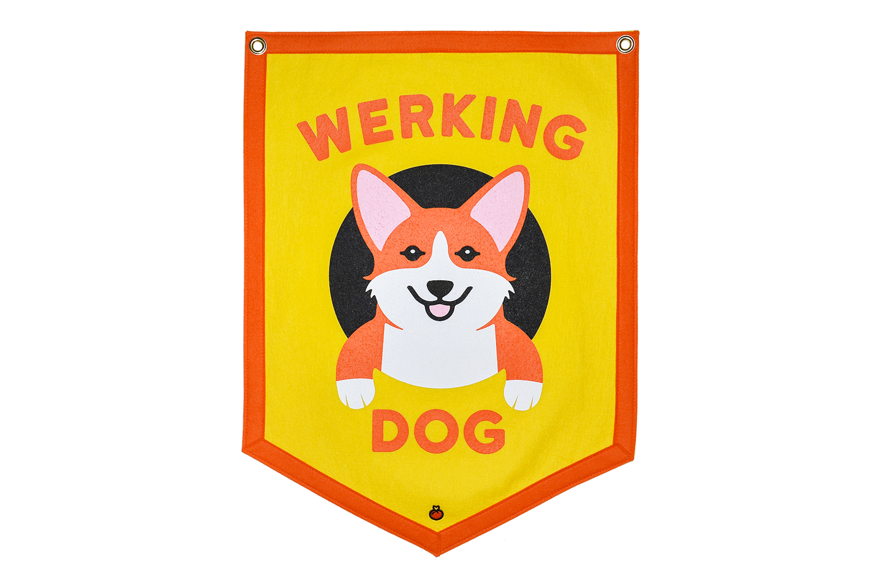 "Maxine x Oxford Pennant ""WERKING DOG"" YELLOW Camp Flag"