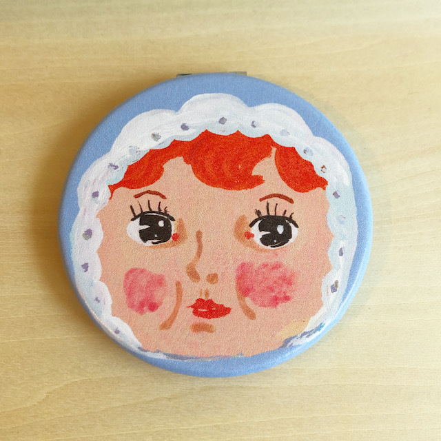 Nathalie Lete Compact Mirror Charmy Light blue ナタリーレテ コンパクトミラー