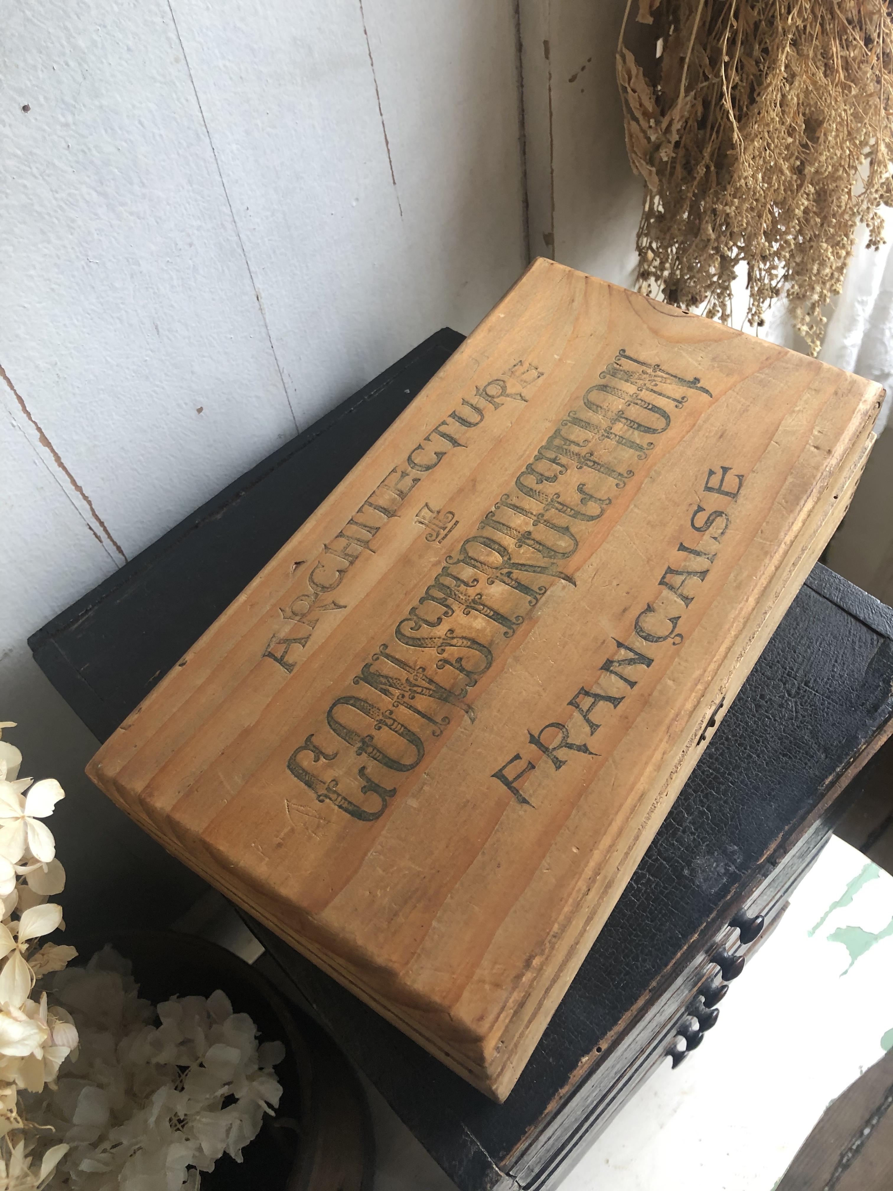 フランス おもちゃの木箱 CONSTRUCTION FRANCAISE