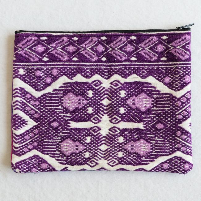 民族衣装の織りウィピルポーチ /231a/ GUATEMALA グアテマラ