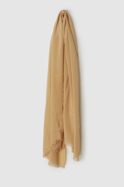 綿シルクスカーフ APRICOT-ORANGE