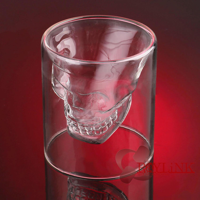 【グラス】スカルヘッドショットグラス 25ml