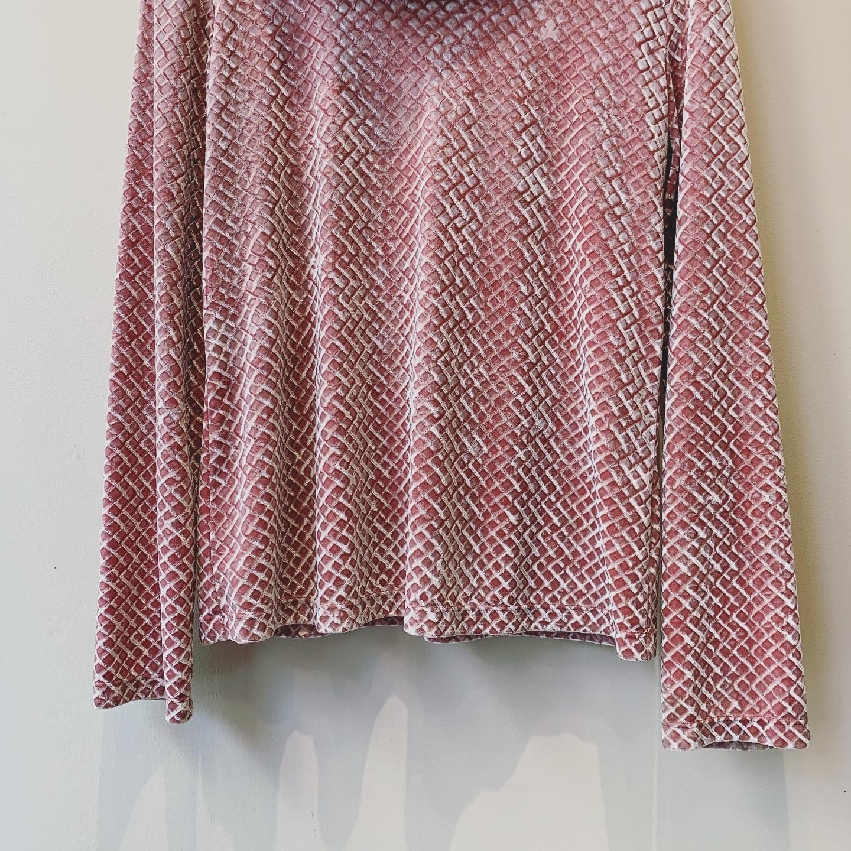 vintage pink velour design tops