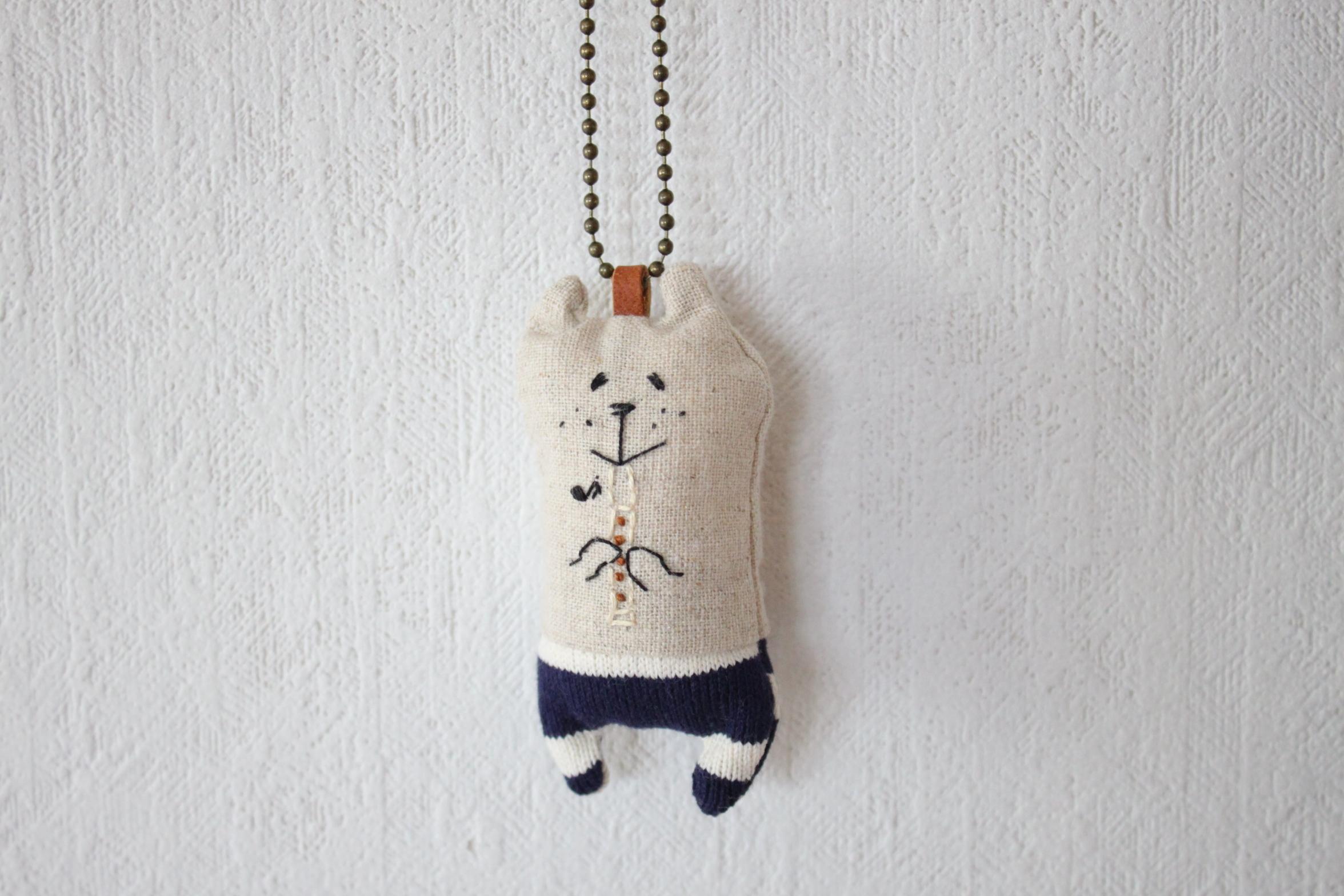 muuちゃん 手刺繍 リコーダー ストラップ