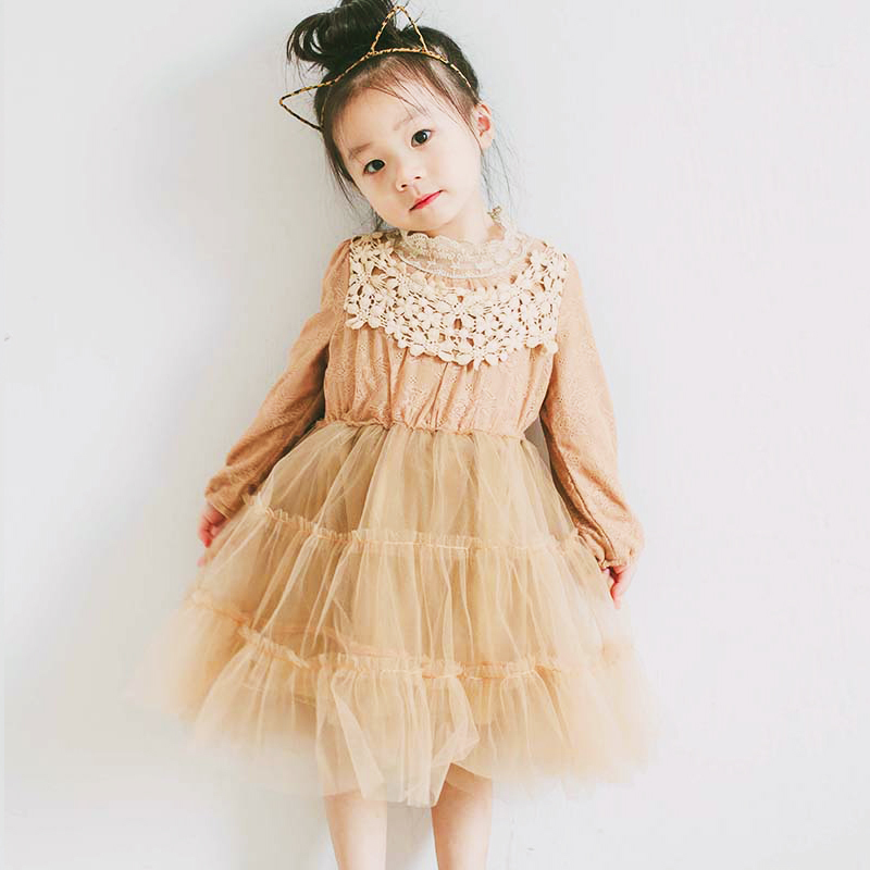 ac36072fcbf4e ... 子供ドレス 結婚式 発表会 こども服 送料無料.  春新商品 キッズ女の子レースワンピースチュールスカート チュチュスカート ナチュラル系 韓国