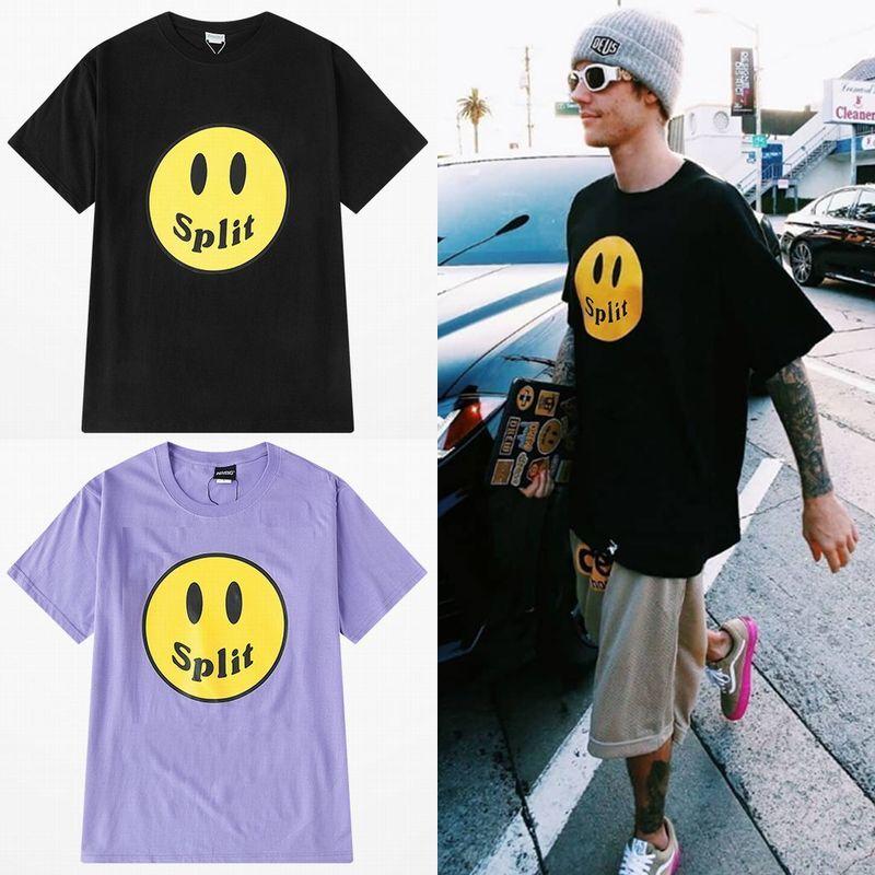 ユニセックス Tシャツ 半袖 メンズ レディース シンプル 英字 スマイル ニコちゃんマーク スマイリーフェイス オーバーサイズ 大きいサイズ ルーズ ストリート
