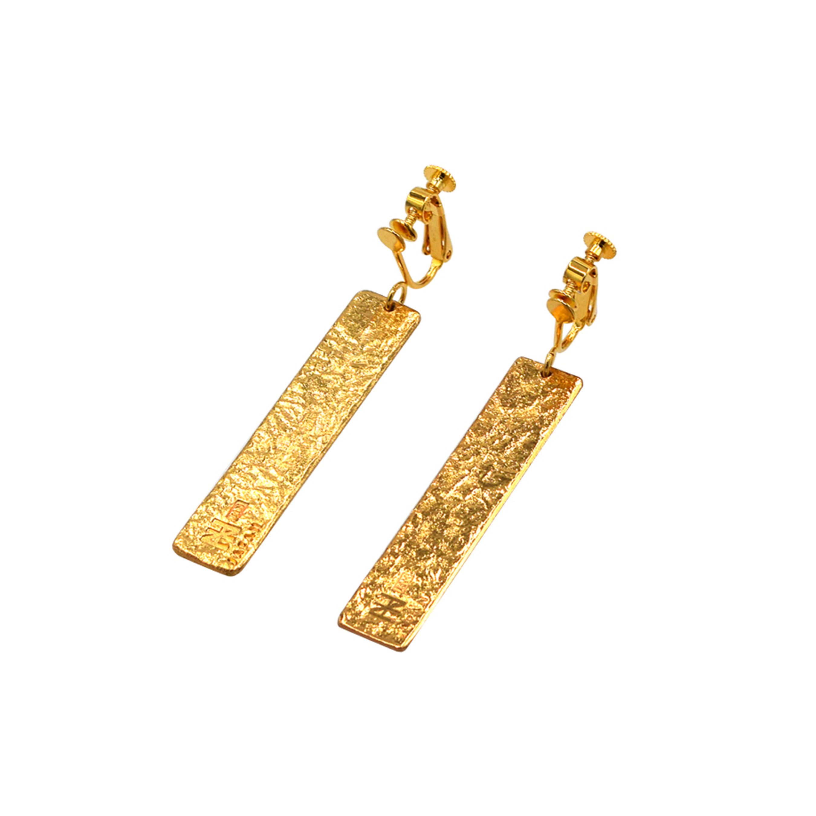 《イヤリング 》TIN BREATH Earrings 10×50mm Gold