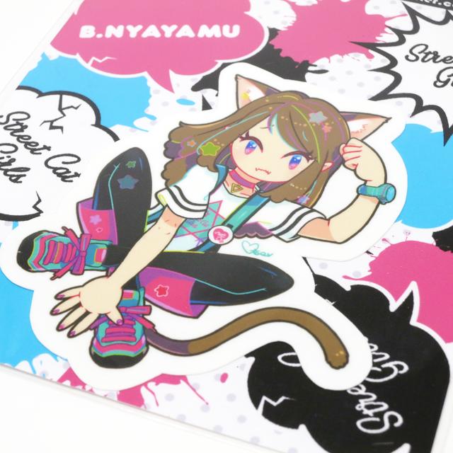【Mystic Otoe】STREET CAT GIRLSステッカー NYAYAMU