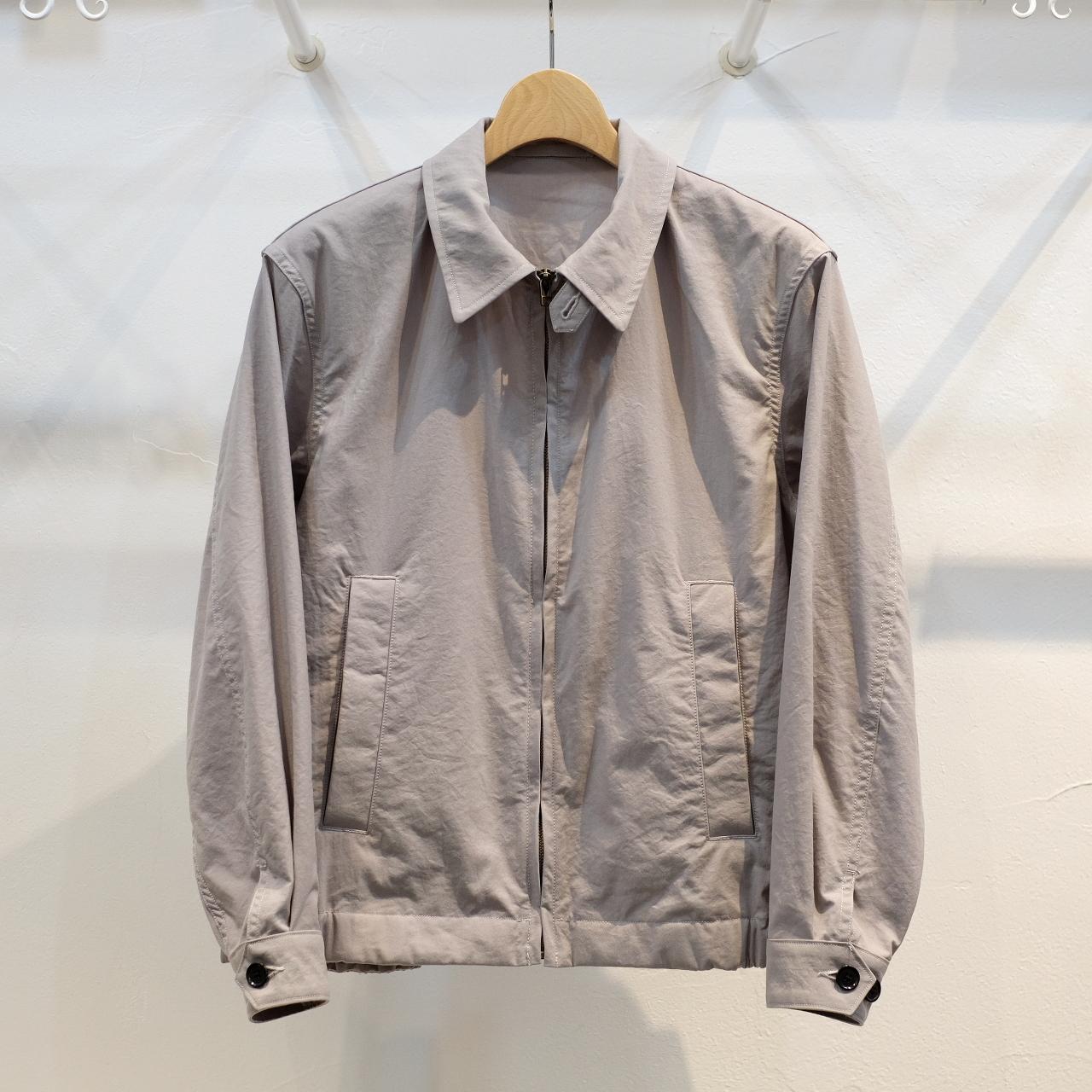 KUON(クオン) オニベジ天然染料染めナイロン ハリントンジャケット グレー