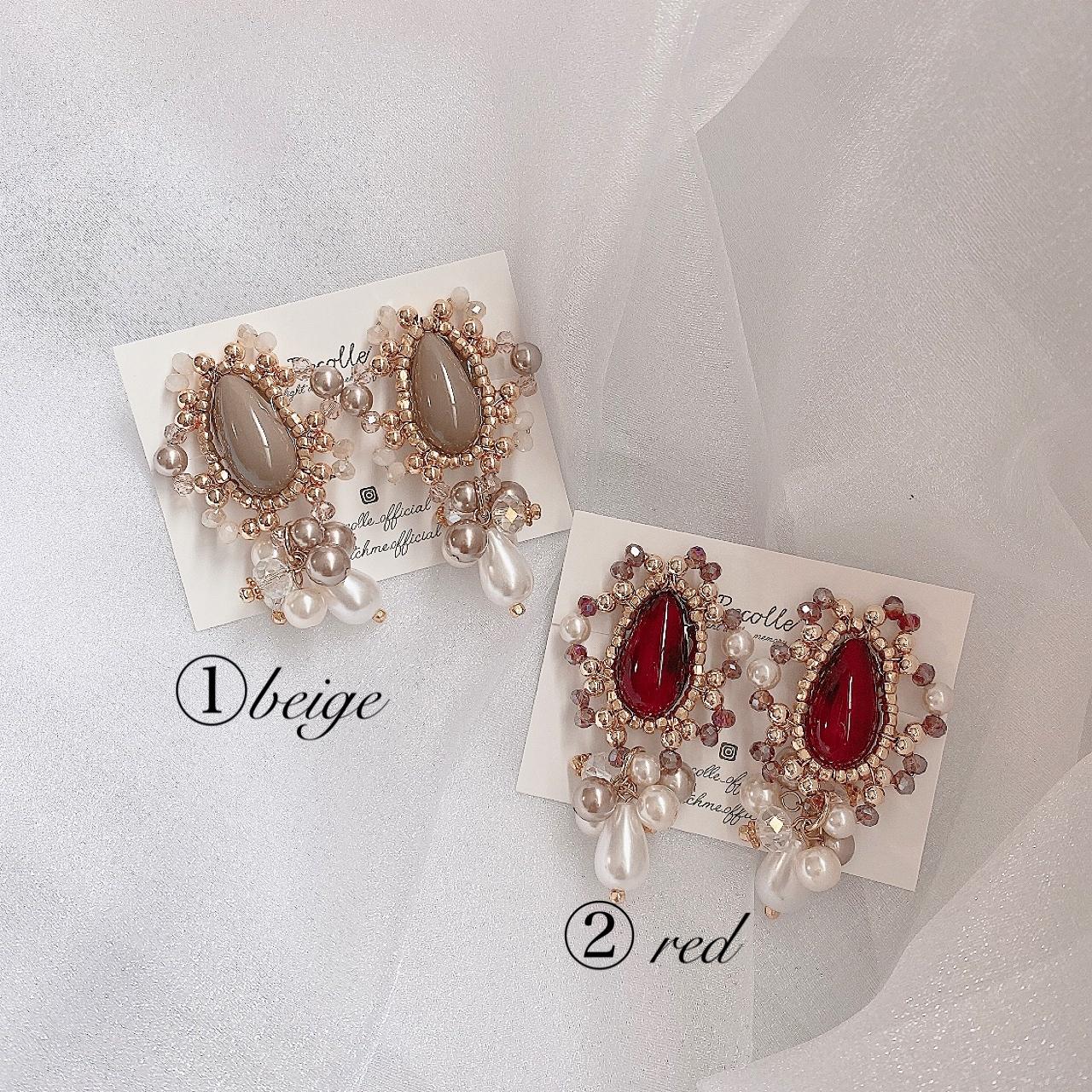 decorative (beige・ red)