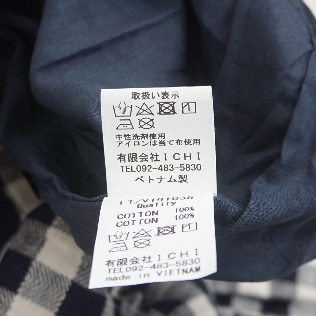 ichi イチ ヘリンボンギンガムチェックパンツ (品番191035)
