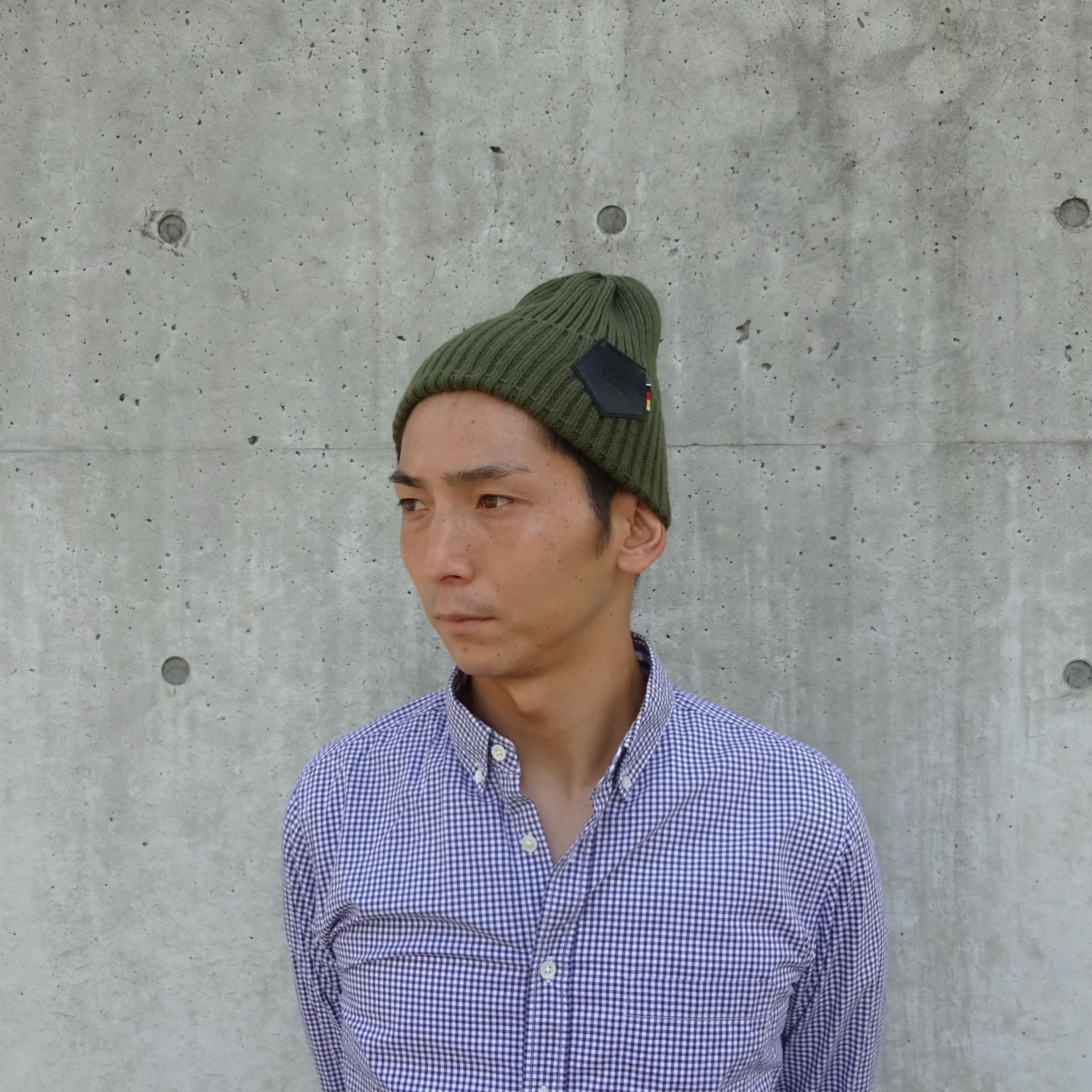 【UNISEX】Knit Cap (KHAKI) / item cord: B1712-KHAKI