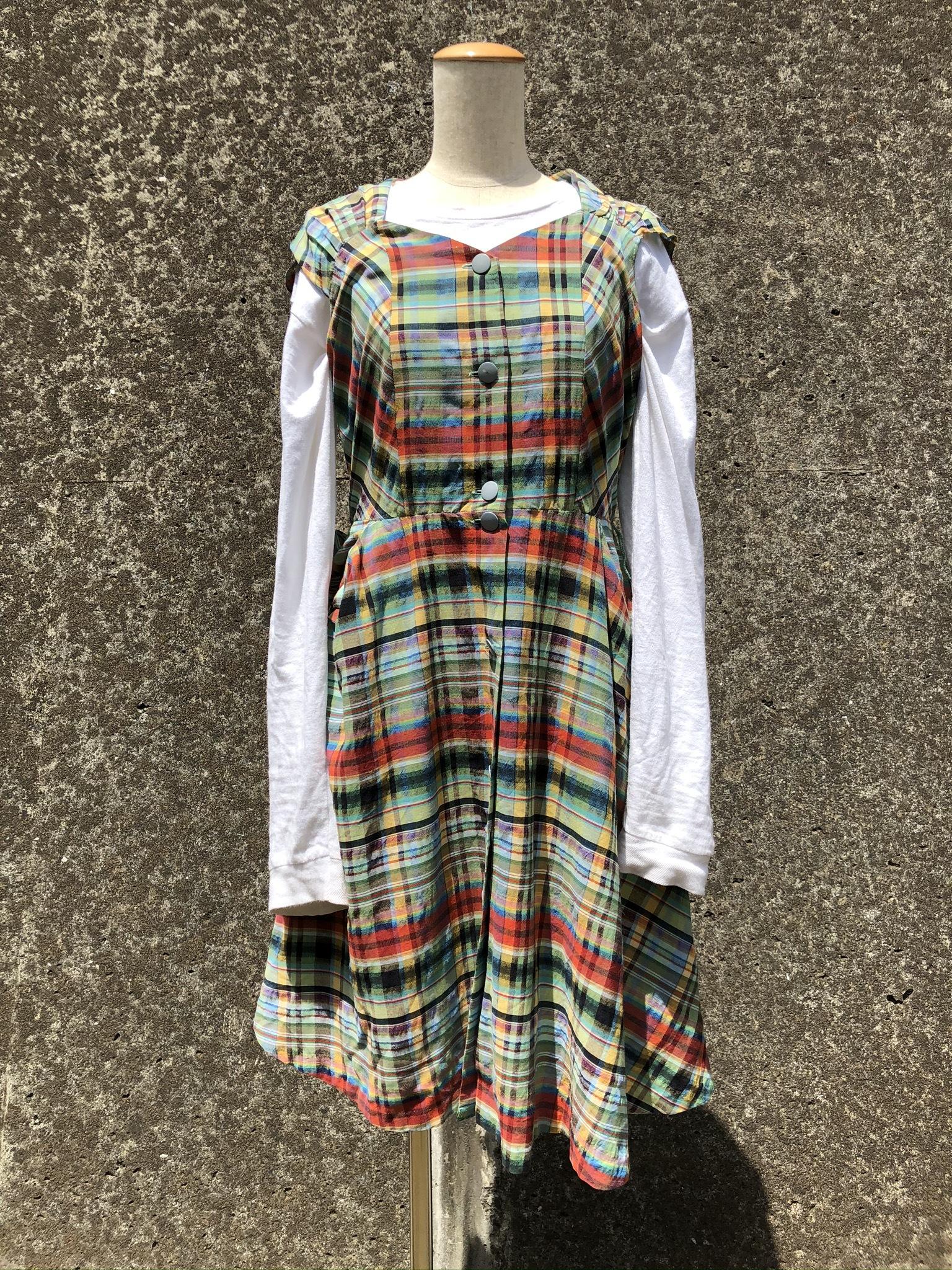 plaid cotton dress