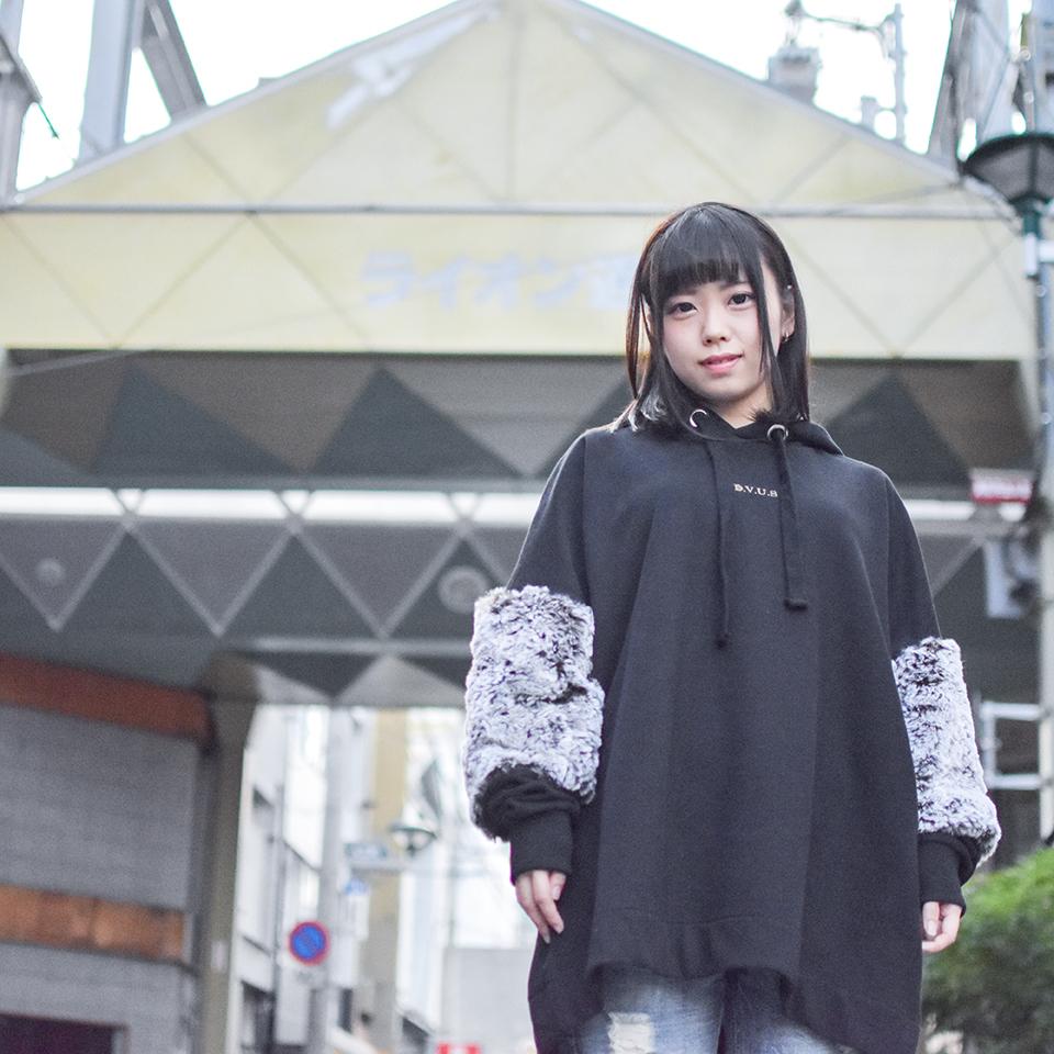 【送料無料】Deviluse(デビルユース) | Woman Pullover Hooded (Black)