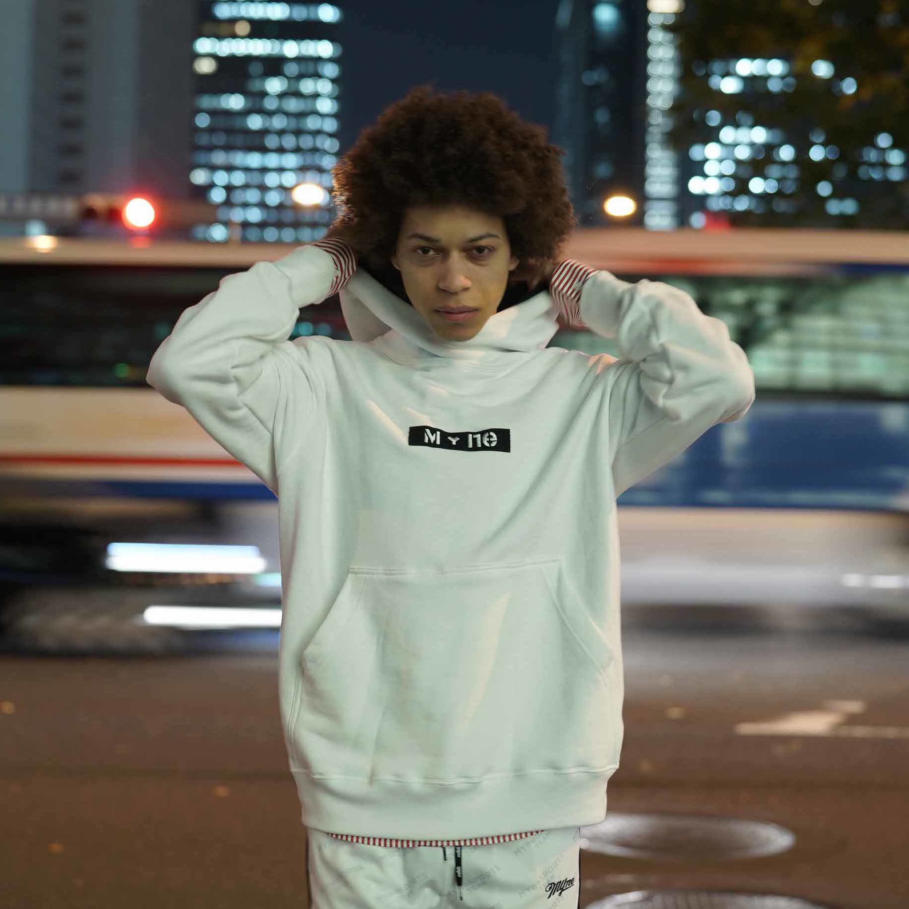 M+ne MAGIC TAPE HOODIE / WHITE - 画像3