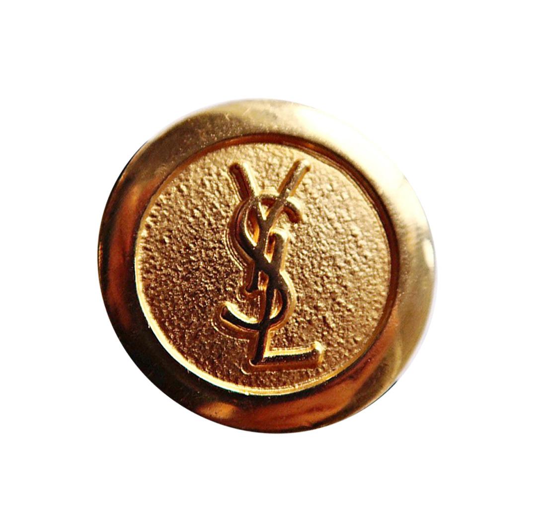 【VINTAGE SAINTLAURENT BUTTON】ゴールドア ンティーク ロゴ ボタン 2.4mm