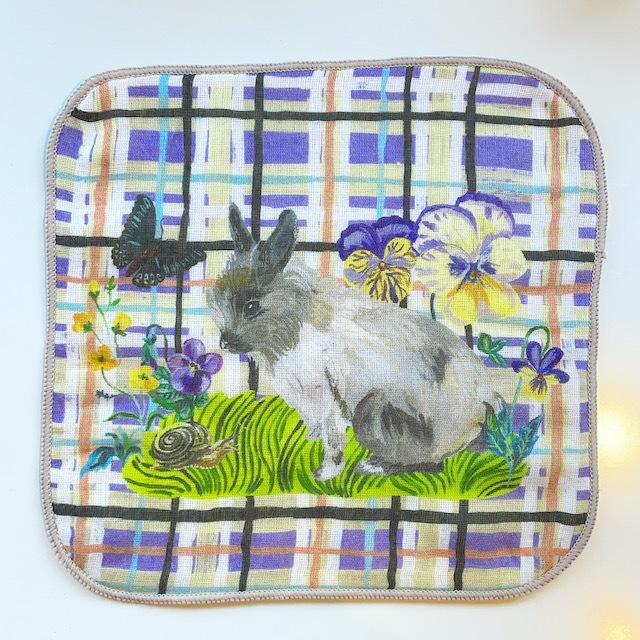 "Nathalie Lete ""Gauze Hand Towel"" Rabbit"