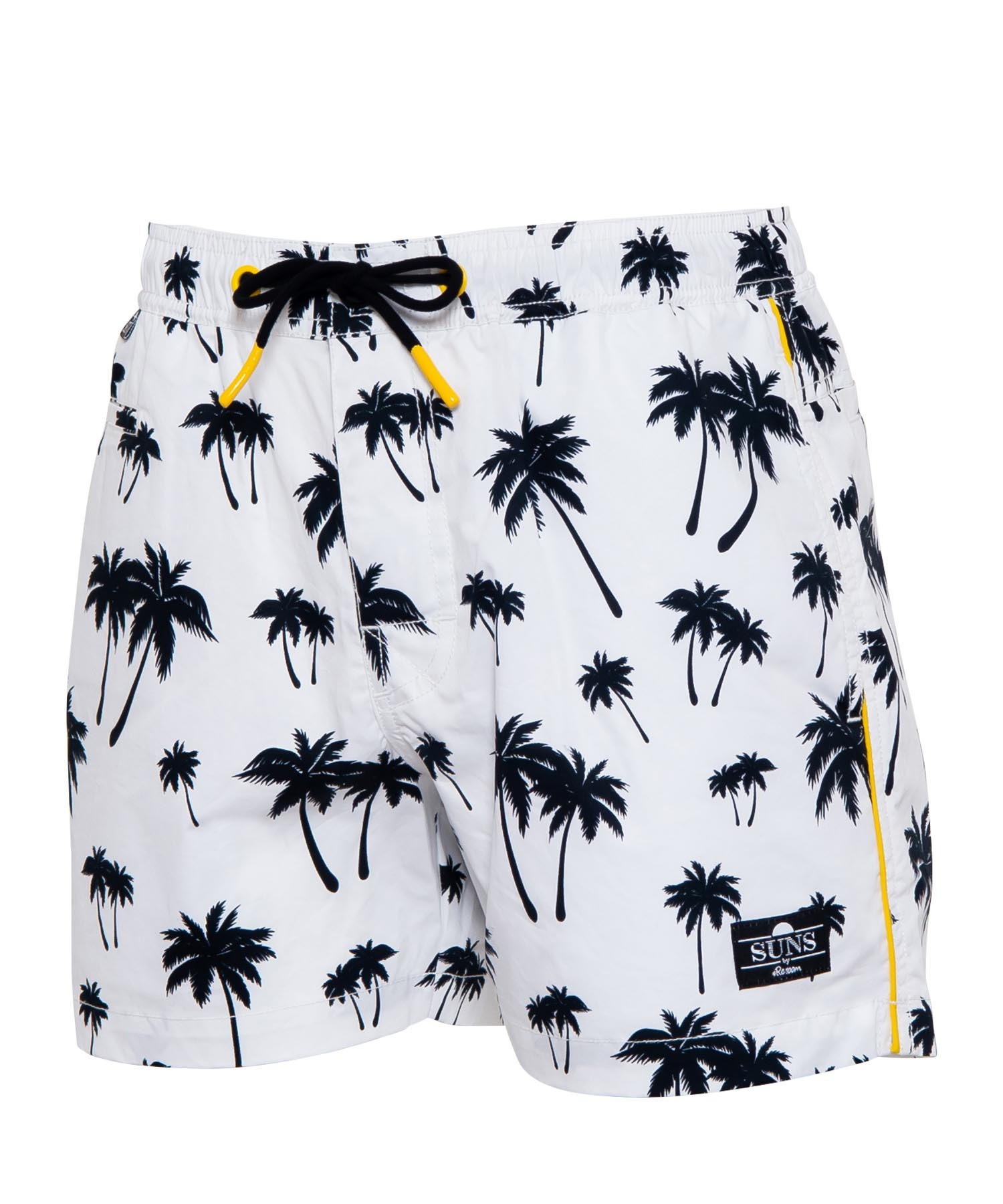 SUNS PALM TREE SIDE LINE SWIM SHORTS[RSW031]