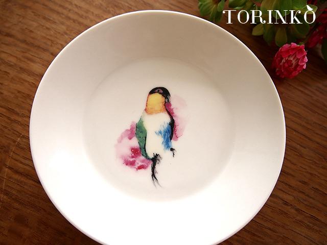 ズグロシロハラインコ お皿 中サイズ(鳥の食器)