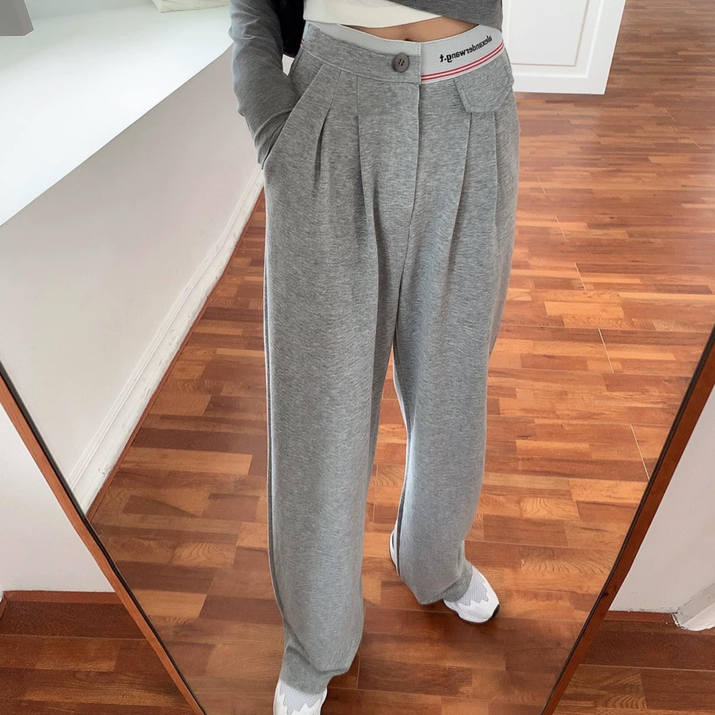 waist side design pants